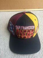 Vintage 90s San Francisco 49ers Block Strapback Hat Color Block Spellout
