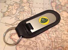 LOTUS Key Ring Etched and infilled On Leather ELISE ELAN EVORA