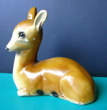 Rare Genuine Rockalite Deer, Rockalite Canada Chalkware Deer Figurine c.1940s