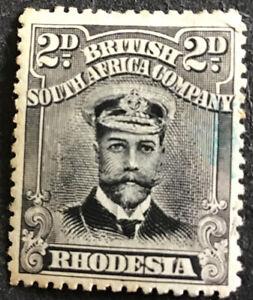 Rhodesia George V 2d Black  & Grey SG220 Mounted Mint C/V £75.00 in 2018.