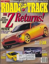 Road & Track Magazine March 1999 Toyota Celica, Mitsubishi Eclipse, Nissan Z-Car