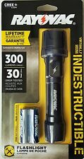 Rayovac Indestructible CREE LED 2AA Worklights 300 lumens - NEW FREE SHIPPING