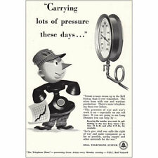 1942 Bell Telephone: Carrying Lots of Pressure Vintage Print Ad