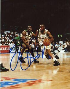 Tim Hardaway Signed Autograph Auto 8x10 Photo COA Golden State Warriors