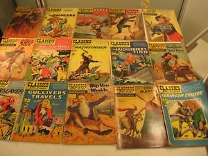 25 CLASSIC ILLUSTRATED COMICS SOLD AS A LOT SOLD AS IS