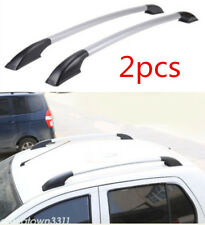 Car Top Roof Rack Side Rails Luggage Carrier Black+Silver For Mazda 5