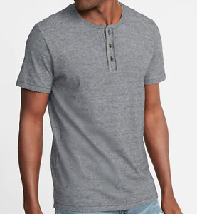 Henley T Shirt Mens Small Gray Authentic Old Navy Short Sleeve Tag Free Label
