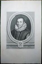 Burin de LUBIN,  Portrait du Président de Thou