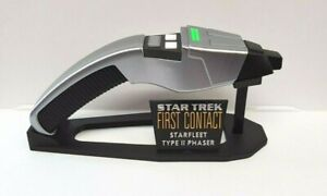 3D Printed Star Trek Next Generation Type 2 Dolphin Phaser and Stand
