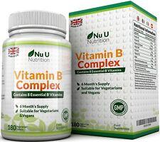Vitamine B Complex - 8 vitamines par comprimé - Vitamines B1/B2/B3/B5/B6/B12/D-