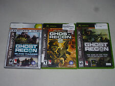 XBOX VIDEO GAME LOT TOM CLANCYS GHOST RECON 2 2011 FINAL ASSAULT ISLAND THUNDER
