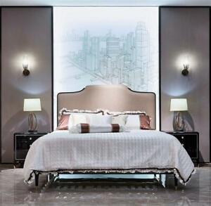 Chesterfield Barock Rokoko 3tlg. Set Bett Konsole Nachttische Luxus Schlafzimmer
