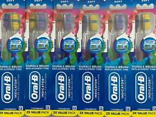 **NEW** 12 ORAL B INDICATOR CONTOUR CLEAN TOOTHBRUSHES (6 PACKS OF 2 )