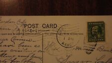 Antique 1912 postcard Sunnyland Menkes, Garden City Kans.flag canceled stamp
