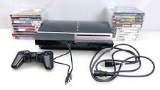 PlayStation 3 PS3 Fat 80gb Console + 1 Controller, 18 Games, Cleaned And Tested