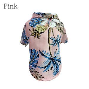 Pet T-shirt Pineapple Coconut Print Short Sleeve Small Dog Clothes Beach
