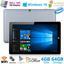 "CHUWI Hi10 Pro 10.1"" Tablet PC Ultrabook 4Core 4GB+64GB Windows 10+Android 5.1"