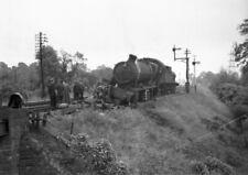 PHOTO  11 OF 11 GWR LOCO 6963 THROWLEY HALL DE-RAILMENT AT ABERGAVENNY LOOP C.19