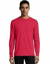 Hanes Crewneck Long Sleeve T-Shirt X-Temp Men's Soft Wicking Cotton Blend S-3XL