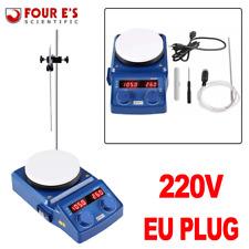 Magnetrührer Heizung Heizplatte 5'' LED Magnetische Mixer Stirrer 220V EU PlUG