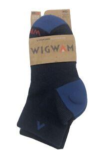 NEW Wigwam Arbor Wool NXT Quarter F1480 Sock NAVY II Medium WMNS 6-10/MENS 5-9.5