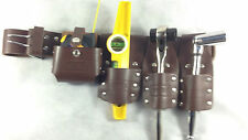 Dura Scaffolding Brown Leather Belt With Full Tools Set