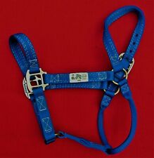 """""""Johnson"""" Blue Horse Halter ~ #8402 ~ Made In Usa ~ New Without Tags"""
