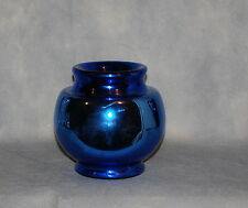 Art Deco Czechoslovakia Blue Mercury Glass Vase