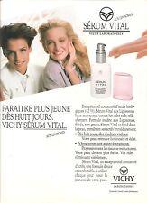 PUBLICITE ADVERTISING  1988 VICHY Laboratoires Sérum Vital