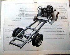 1938 Mercedes Truck L2000 Dealer Parts Book