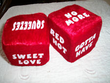 SOFT EXPRESSIONS BIG RED LOVE DICE GAME * Romantic, love Game, Hugs & Kisses *