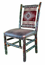 Rustic Hickory Upholstered Seat and Back Dining Chair Red Diamond Southwest