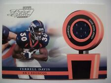 2002 PLAYOFF PIECE OF THE GAME FOOTBALL TERRELL DAVIS , BRONCOS !! BOX # 42