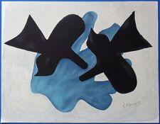 """Georges BRAQUE : """"Couple d'oiseaux"""" LITHOGRAPHIE SIGNEE  ARCHES"""