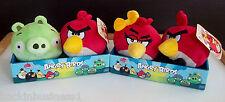 "ANGRY BIRDS-LOT-4"" LOVE BIRDS-RED BIRD w/ TIE,GIRL RED BIRD,PIG,RED BIRD-VHTF!!!"