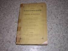 1884.de l'inégalité des races / Gobineau.T1