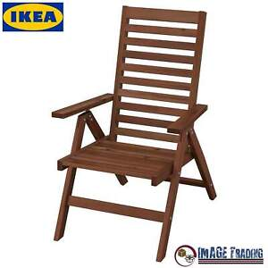 NEW IKEA APPLARO Outdoor Foldable Brown Stained Reclining chair