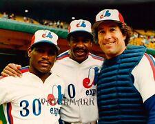 MLB 1980's Montreal Expos HOFers Raines Dawson & Carter Color 8 X 10 Photo