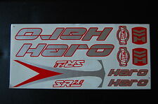 Haro Stickers Set Silver, Red & White.