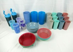 Assorted Lot of 32 TUPPERWARE Cups & Bowls - All New Old Stock!