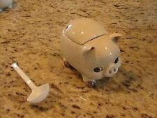 VINTAGE 1979 Otagiri Pig Sugar Container with Cover and Spoon VGUC