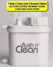 Flush n' Clean Toilet Bowl Cleaner with Bromine Tablets - No Special Cartridges