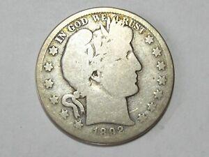 1892-S Barber Half Dollar - #8040-3