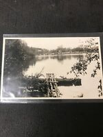 real photo Postcard Birtle Lake Manitoba Crown Gathering Around Lake  A1