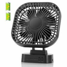 COMLIFE 4000mAh Battery Operated Desk Fan with Magnet Base, 3 Speeds with Timer,