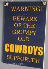 SALE Warning Grumpy Old North Queensland Cowboys Sign Rugby League Signs