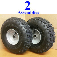 TWO 4.10-4 Snow Blower Thrower TIRE RIM WHEEL ASSEMBLY Kenda Snow Pro Polar Trac