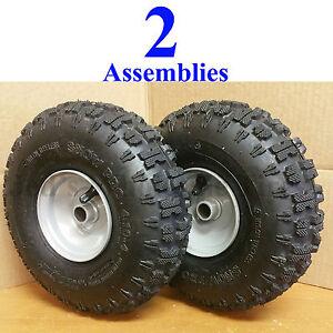 TWO 4.10-4 410-4 4.10x4 410x4 Go Kart Fun Cart Drive Axle TIREs RIMs WHEELs