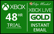 Xbox live gold 48HR 2 day trial instant dispatch - 48 heure 2 jours 48 heures