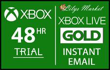 Xbox Live Gold 48HR envío instantáneo de prueba de 2 días - 48 hora 2 días 48 horas